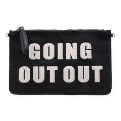 Going Out Out Clutch ($14) ❤ liked on Polyvore featuring bags, handbags, clutches, accessories, purses, ivory purse, party purses, party clutches, hand bags and man bag