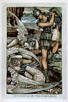 Walter Crane: A Wonder Book For Girls & Boys - Perseus & the Gorgons