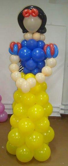 Snow white/ blana nieves Balloon Tower, Love Balloon, Balloon Columns, Balloon Arch, Balloon Arrangements, Balloon Centerpieces, Balloon Decorations, Princesse Party, Princess Balloons