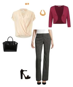 """""""Fall business woman"""" by lisawardrip on Polyvore featuring Miss Selfridge, Worthington, INC International Concepts, Mixit, Givenchy and Seasalt"""