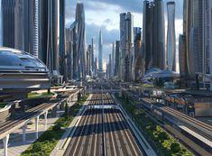 Futuristic City, Futuristic Technology, Futuristic Design, Futuristic Architecture, Amazing Architecture, Technology Tools, Minimalist Architecture, Technology Design, Paradis Sombre