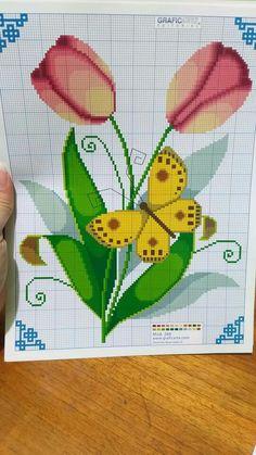 Seed Bead Flowers, Seed Beads, Beaded Embroidery, Cross Stitch, Cornice, Margarita, Birthday, Cross Stitch Rose, Tulips