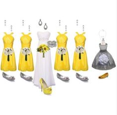 cute dressses (especially the flower girl dress)