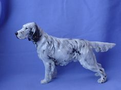 "Royal Doulton English setter hunting dog  Beautiful hand painted hunting dog from Royal Doulton England...... clear clean RD mark, HN1050  5.5"" tall and 8"" long   asking price $250 plus shipping    **want**"