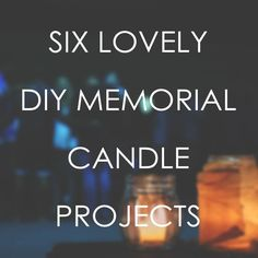 these are easy DIY projects for a memorial gift, keepsake area at home, or funeral reception table centerpieces. Funeral Memorial, Memorial Gifts, Memorial Ideas, Memorial Candles, Funeral Reception, Reception Table, Funeral Gifts, Funeral Ideas, Candle Lighting Ceremony