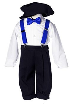My nephews outfits! Toddler Boys Black Knicker Set with Royal Blue Suspenders and Bow Tie (24M) Tiny Penguins http://www.amazon.com/dp/B00MT0TVMM/ref=cm_sw_r_pi_dp_jen6ub16MBM5X