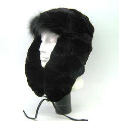 new heavy duty men real natural fox fur trapper hat/aviator/ushanka 58cm- 60cm