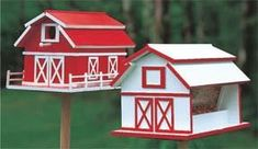 Barn Birdhouse and Feeder Patterns, by Mail
