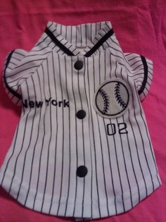 Bidding starts at just $14.99!!!   Show your New York pride of the Yankees with this adorable furbaby pinstriped shirt!!!