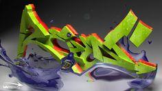 Graffiti 3D HD Wallpaper
