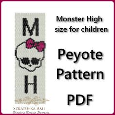 Monster High   size for children Peyote Pattern by BeadingPattern