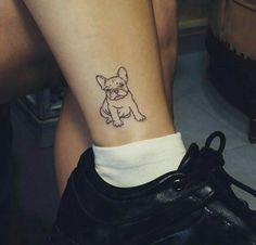 Tatuaje bulldog francés silueta