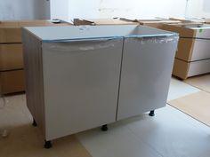 Assembling of new kitchen units - Colella Interiors kitchen installation process