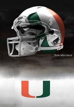 Miami Hurricanes Nike Pro Combat Concept Helmet