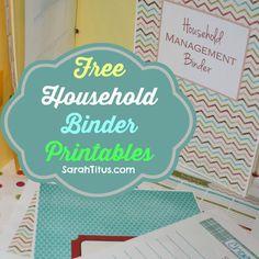 Free Household Binder Printables