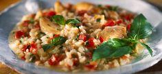 Philadelphia Risotto med kylling, tomat og basilikum