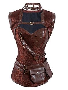 efaa038175 cool Vaniyi C03A Women s Retro Goth Steel Boned Brocade Steampunk Waist  Training Corsets X-Large