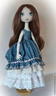Купить Ребекка. Авторская текстильная кукла. - морская волна, кукла, текстильная кукла, авторская работа ♡