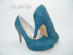 Dark Teal holographic glitter high heels Wedding Bridal Bridesmaid Mothers Day Carnival Ball Parade Pageant Sweet 16 Birthday gift for her Bling Heels, Glitter High Heels, Stiletto Heels, Sweet 16 Birthday, Birthday Gifts For Her, Wedding Heels, Holographic Glitter, Dark Teal, Pageant