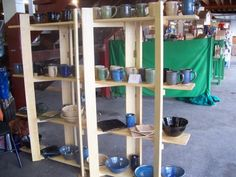 I love these shelves! completely collapsible and easily transportable while being sturdy and reliable!