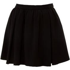 Miso Crepe Umbrella Skirt ($15) ❤ liked on Polyvore featuring skirts, mini skirts, bottoms, saias, faldas, print skater skirt, short skater skirt, black high waisted skirt, high waisted skirts and black skater skirt