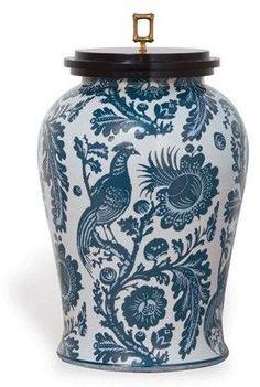 The Well Appointed House Scalamandre Maison Arcadia Indigo Porcelain Jar