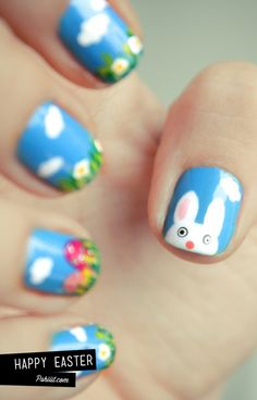 Easter nails ... happy easter!!!