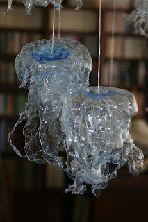 tertium non data: jellyfish made from plastic bottles
