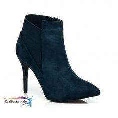 Nádherné semišové topánky na ihlovom podpätku 8865Y-D.BL Heels, Boots, Fashion, Heel, Crotch Boots, Moda, Fashion Styles, High Heel, Shoe Boot