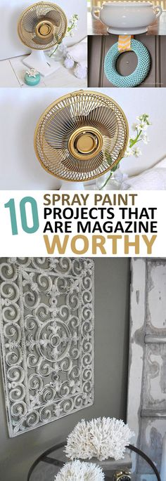 Amazing DIY home decor projects using spray paint!
