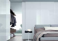 Walk in robe behind bed space