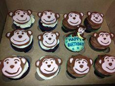 Chocolate and vanilla monkeys for babys first birthday