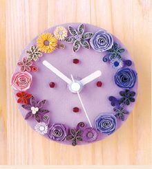 Quilled Clock by: kogamicraft.com