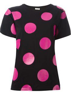 #saintlaurent #tshirts #polkadots #prints #black #fucsia #womens #womensfashion #wishlist #gifts #xmas www.jofre.eu
