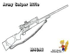 Coloring M40 A1 Army Sniper Rifle