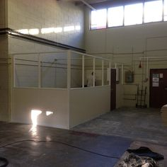 New self contained office within an industrial unit.