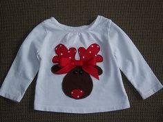 Reindeer ribbon shirt!