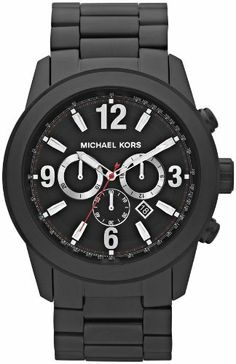Michael Kors Chronograph Black Ion-plated Mens Watch MK8196 Michael Kors. $231.99. HAS SOME LIGHT WEAR ON THE BAND 9/10 STARS* NO BOX NO PAPERS.. Save 16% Off!