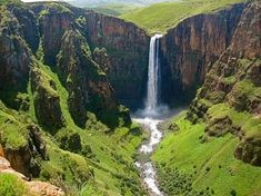 Good morning beautiful Africa from the majestic 192 metre high waterfall of Maletsunyane falls in Semonkong district in Maseru the capital city of Lesotho. Famous Waterfalls, Beautiful Waterfalls, Nature Sauvage, Largest Waterfall, Les Cascades, African Countries, Africa Travel, Summer Travel, Beautiful World
