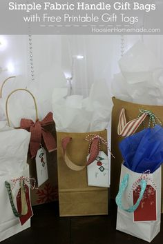 Simple Gift Bags and