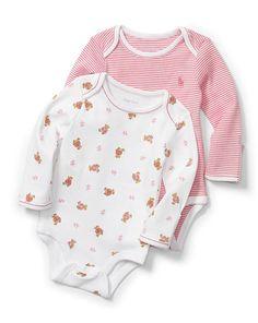 Cotton Bodysuit 2-Pack - Baby Girl One-Pieces - RalphLauren.com
