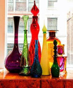 Colorful Vintage Bottles