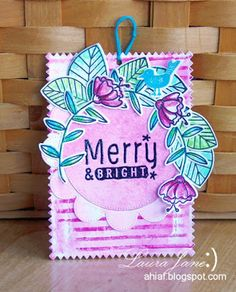 After-Hours Ink & Flowers: 25 Days of Christmas with Waffle Flower Crafts 25 Days Of Christmas, Christmas Tag, Merry And Bright, Flower Crafts, Cardmaking, Waffles, Greeting Cards, Ink, Tags