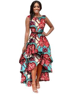 Women Fashion Dress Maxi Dress Cute Brand Designer African Dresses for Women Dashiki Ankara Dresses Custom Cascading RuffleWY447
