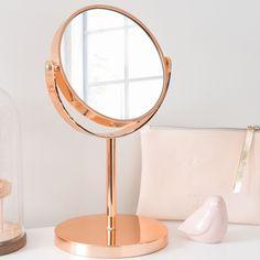 Tafelspiegel, koperkleurig metaal, SWAGGY COPPER