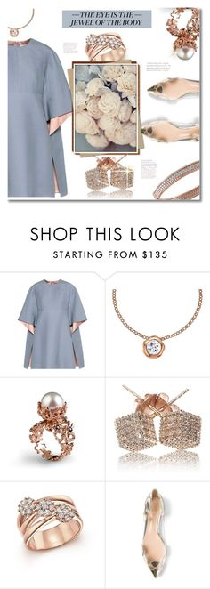 """""""#256) JEWELRIES OF THE DAY - Rose Gold"""" by fashion-unit ❤ liked on Polyvore featuring Valentino, Dower & Hall, Loushelou, Bloomingdale's, Gianvito Rossi, Effy Jewelry and rosegold"""