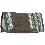 """Classic Equine Zone Wool Top Pad Coffee/Teal 32""""x34"""