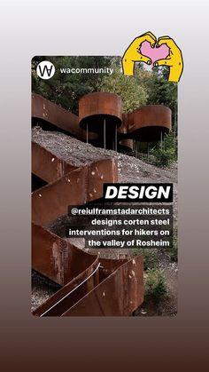 Historier • Instagram Corten Steel, Instagram, Design