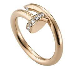 """Cartier's """"Juste un Clou"""" rose gold diamond nail bangle. Designed by Aldo Cipullo in the 70's, relaunched 2012.  Elegantly wicked."""