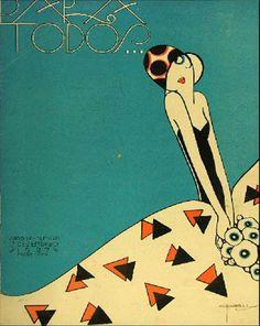 * PARA TODOS Décembre 1927 - José Carlos de Brito e Cunha, connu comme J Carlos (1884 - 1950) dessinateur, illustrateur et graphiste brésilien considéré comme l'un des plus grands représentants du style art déco en design graphique brésilien.